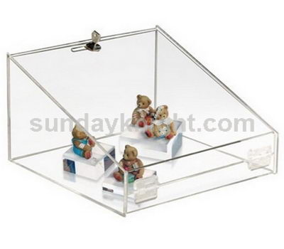 Custom acrylic display case with lock for toy