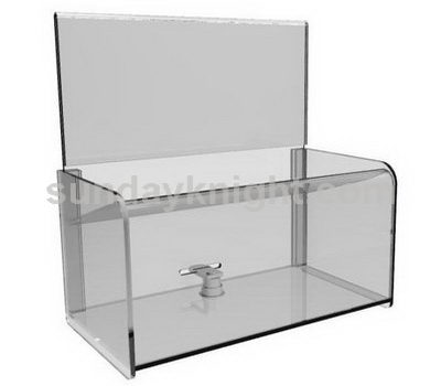 Custom acrylic donation box with lock