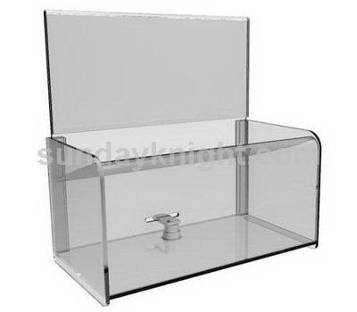 Custom acrylic donation box with lock