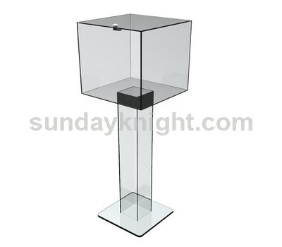 Large clear donation box SKAB-014