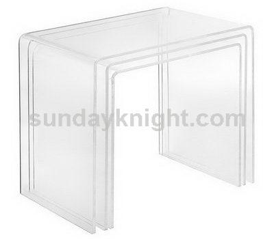 3pcs clear Acrylic Nesting Tables Set