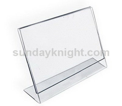 L shape acrylic sign holder