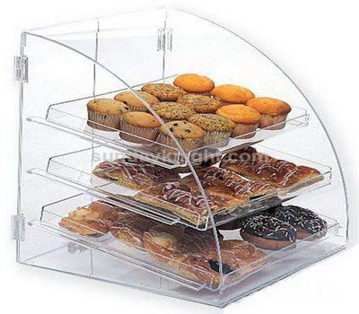 Clear acrylic bread display case