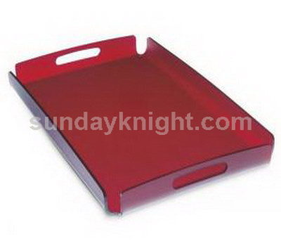 Red acrylic serving tray