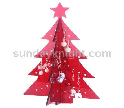Christmas tree earrings display