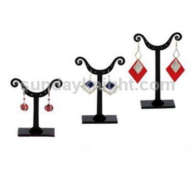 Black acrylic earring display stand
