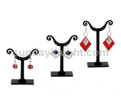 Black acrylic earring display stand