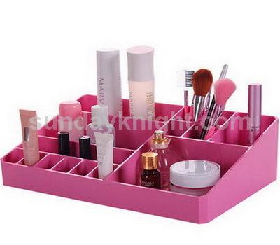 Pink cosmetic organizer