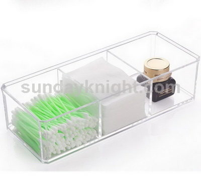 Clear acrylic cosmetic holder