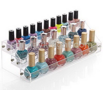 Flat packed nail polish rack