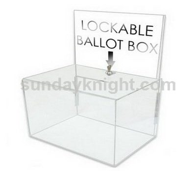 Acrylic ballot box with lock SKAB-021