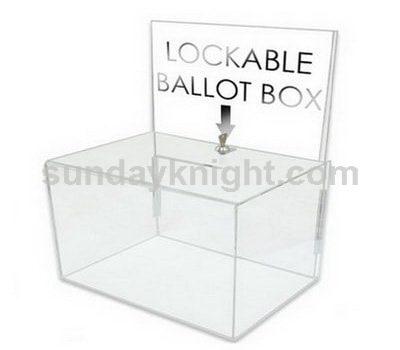Acrylic ballot box with lock SKAB-021