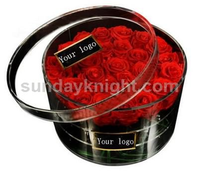 Round acrylic rose box