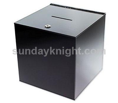 Black acrylic ballot box SKAB-040