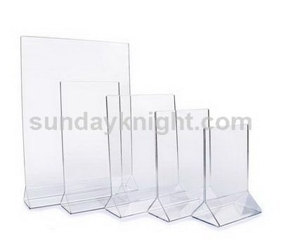 Clear plastic sign holder
