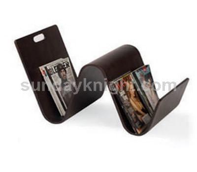 W shaped acrylic magazine holder