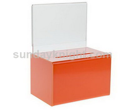 Plexiglass donation box - orange