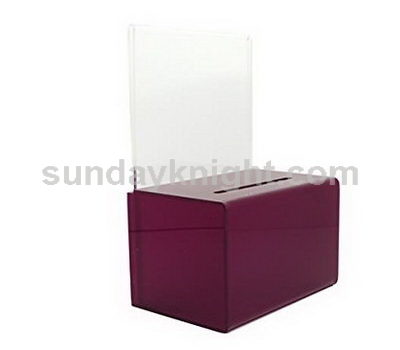 Plexiglass donation box
