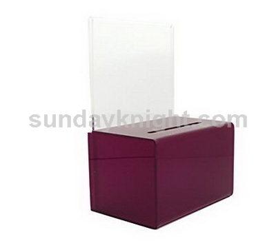 Plexiglass donation box