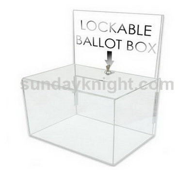 Lockable ballot box