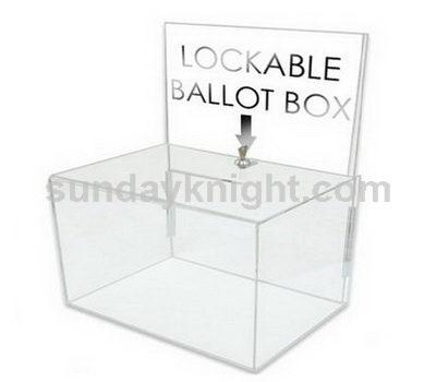 Lockable ballot box