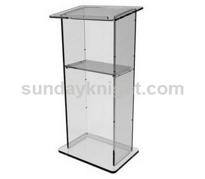 Transparent acrylic podium