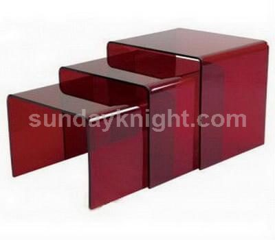 Transparent red coffee table