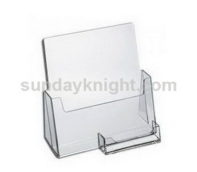 Brochure holder with business card holder
