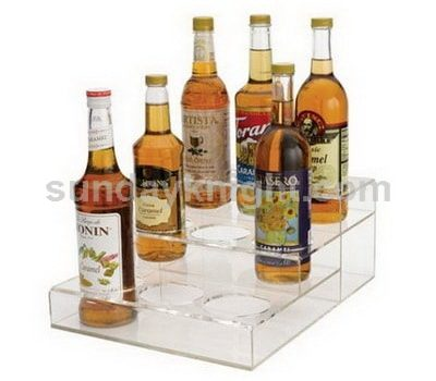 Clear wine bottle holder