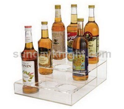 Clear wine bottle holder