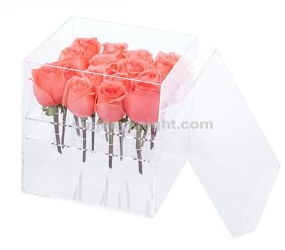 SKAB-053-1 Custom acrylic flower rose box