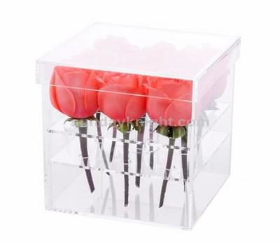 Custom acrylic flower rose box