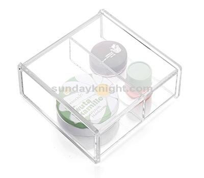 Clear makeup storage box