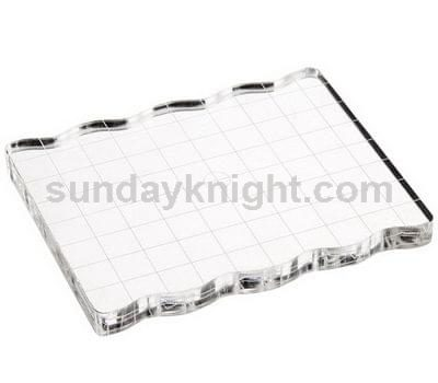 clear stamp block
