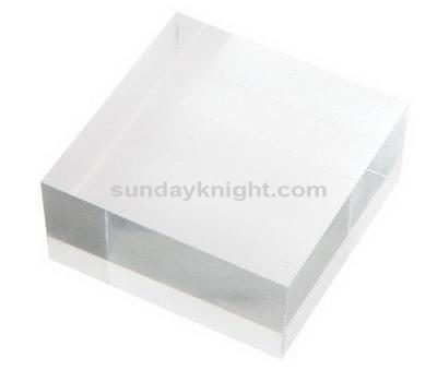Clear acrylic blocks for stamping