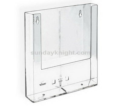 Wall mount acrylic brochure holder