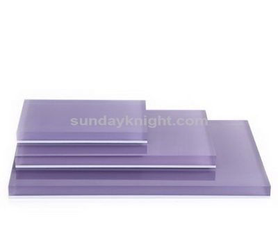 Lavender acrylic display blocks