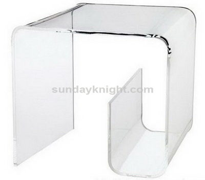 Acrylic coffee table with magazine holder