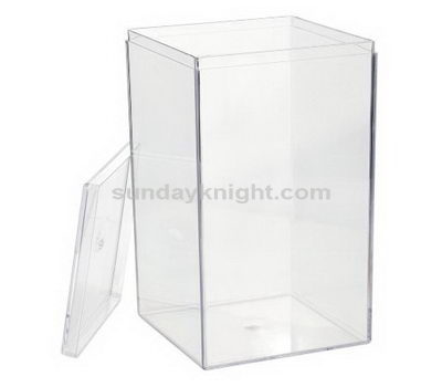 Acrylic container with lid