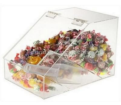 Candy bin with scoop