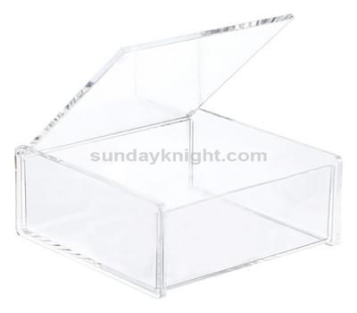 custom acrylic box with hinged lid