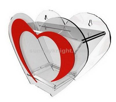 Heart shaped acrylic box