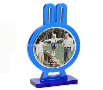 Blue rabbit shaped acrylic photo frame