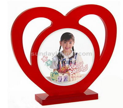 Red heart shaped acrylic photo frame