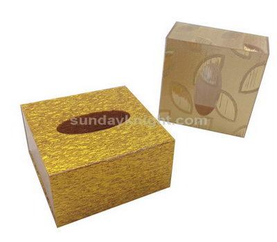 SKAB-064-2 Gold acrylic tissue box