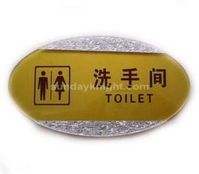 Unique restroom signs