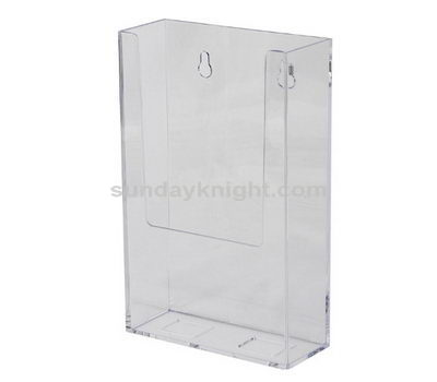 Wall mount clear brochure holder