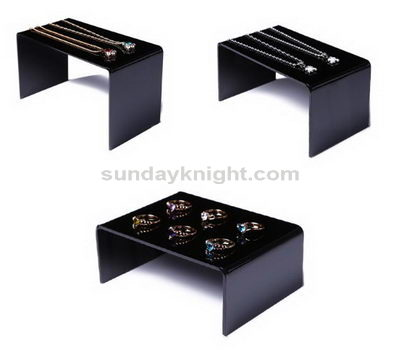 Black acrylic jewelry rack