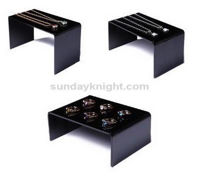 Black acrylic jewelry rack