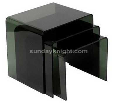 Transparent black acrylic nesting tables